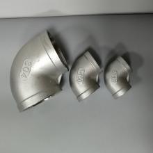 304不锈钢丝扣三通 不锈钢螺纹弯头DN15