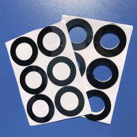 生产直销圆柱形防滑橡皮垫 高弹硅胶防滑垫 强粘防撞胶垫