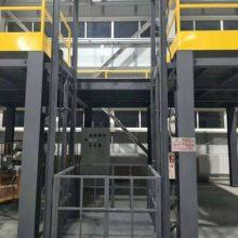 固定导轨式液压升降平台厂房货梯运货平台物料提升机小型升降货梯