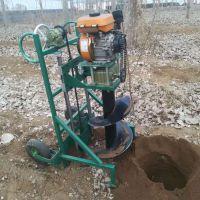 亚博国际真实吗机械 新款小型植树挖坑机 便携式农用地面挖土机 山坡地植树挖坑机 电线杆埋桩立柱地钻机