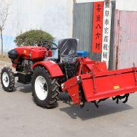拖拉机耕地机厂家 四轮拖拉机液压翻转犁 15马力单缸四轮旋耕机