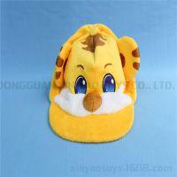 儿童布绒鸭舌帽 可爱小老虎棒球帽 超柔贴布绣纯棉户外遮阳帽子