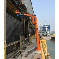 500公斤定柱式旋臂起重机 车间码头仓库物料吊卸悬臂吊 电动独臂吊 360度旋转