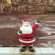 圣诞老人卡通雕塑圣诞老人玻璃钢雕塑户外圣诞老人雕塑
