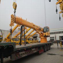 忻城县8吨船吊 码头吊臂长 做工精细 鱼鳞焊接 酸洗磷化 环保型烤漆房