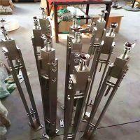 金聚进 304不锈钢玻璃楼梯护栏 钢化玻璃不锈钢立柱订做