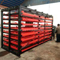 四川托盘式板材货架案例 移动式货架设计原理 钢板存储 节约空间
