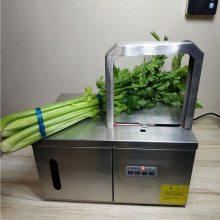 使用速度快超市扎菜机器 韭菜/蒜黄捆把设备 扎捆机批发鲁强机械