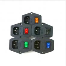 供应AC-01电源插座带保险丝三合一 卡位 1.0 1.5 2.0 2.5品字插座