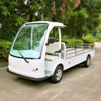 安步优品ABLQF120承载1.2吨白色两座场内平板四轮电动货车酒店布草车场内搬运车 电动运输车