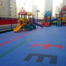 武汉拼装简便型悬浮地板 户外运动地板 双层大米格厂家