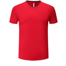 V领广告衫定制,T恤衫定做,文化衫团购,WANY-V1709,纯色亲子装190克男款紧密赛罗纺
