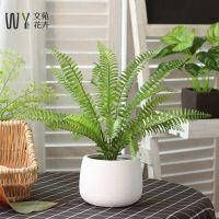 仿真绿植盆栽小盆景装饰假草北欧家居餐桌摆设绿叶室内摆件植物