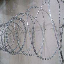 镀锌蛇腹型刀刺网 刀刺护栏网 刀片刺网