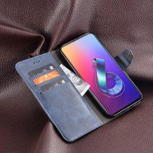 厂家供应华硕Asus Zenfone 6 ZS630KL翻盖手机皮套新款韩版铆钉扣手机壳时尚手机套