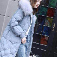 特价反季促销大毛领羽绒服女 品牌折扣女装库存尾货 冬季必备保暖羽绒服进货渠道