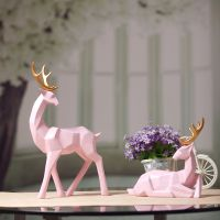 情侣对鹿结婚礼物装饰摆件新房客厅电视柜隔断酒柜工艺品送闺蜜送朋友新婚礼物