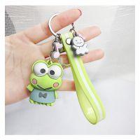 2019年青蛙定制硅胶公仔玩偶娃娃卡通钥匙扣环钥匙圈