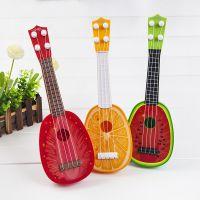 夏季超萌儿童吉他环保材质可弹奏乐器胶丝弦尤克里里玩具