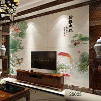 瓷砖背景墙电视客厅背景大理石背景墙彩绘瓷砖厂家直销批发