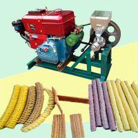 热销柴油苞谷大米膨化机 电动空心棒机 多功能商用玉米麻花机价格