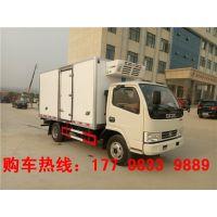 国五蓝牌东风多利卡4.2米3.5L柴油冷藏车