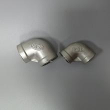 直销304铸件弯头DN15 不锈钢4分丝扣弯头