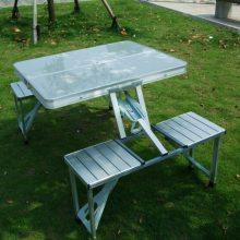 [厂家]铝合金连体折叠桌椅、户外可折叠连体桌椅批发与定制加工厂
