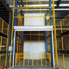 6up传奇扑克 固定导轨链条式升降货梯 垂直升降机 车间运货货梯 全国安装