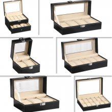 现货pu皮革手表收纳盒2位3位6位10位12位20位24位手表首饰盒展示盒