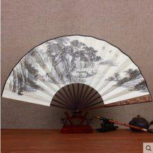 定制高档宣纸折扇10寸国画题字纸扇定做中国风书法绘画扇子