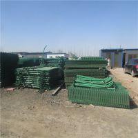 现货供应双边围栏防护网 绿色湖北高速公路隔离防护网 绿色双边护栏网