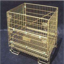 铁笼车 移动带牵引仓储笼 乌沙折叠仓库笼 金属收纳框