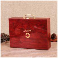 厂家定制高档木盒 礼品盒木质交房盒厂家直销 手提业主木箱红酒茶叶木盒定做