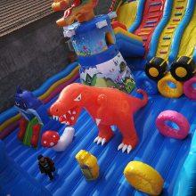 厂家直销大型充气滑梯城堡 儿童玩耍熊出没滑梯城堡 小型充气蹦蹦床