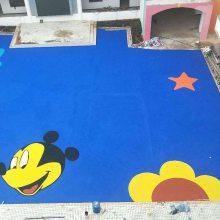 汕头幼儿园彩色地面设计,儿童防摔地面施工,幼儿园防护地垫,塑胶地面材料厂家