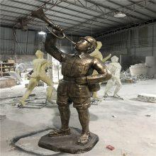 广州玻璃钢仿铜雕塑公园景观人物雕塑
