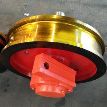 大车天车行车轮 起重机锻造车轮组 表面淬火行车轮组