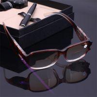 智能渐进led照明验钞双光老花镜男女 防辐射远近两用老花眼镜批发