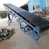 仓库搬运箱子输送机 移动式装车皮带机 28米长爬坡型输送机
