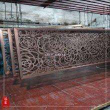 厂家定制黑丝仿古铜屏风 不锈钢中式屏风隔断 价格实惠
