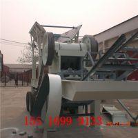 移动式石子磕石机 PE500*750移动颚式刻石机 时产100吨博洋生产厂家