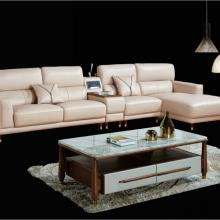 极奢轻奢意式极简真皮沙发小户型转角组合羽绒沙发音响储物客厅沙发