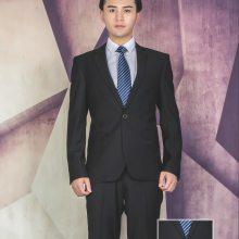 郑州西服定制量身订做春季黑色套装修身韩版公司职业装西装工作服订做正装