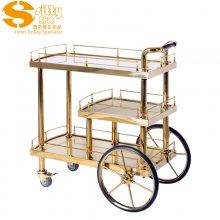 专业生产SITTY斯迪91.8102S简约现代S钛金活动酒水车/服务车/手推餐车