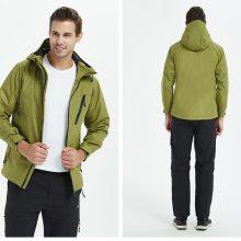 武汉冬季三合一冲锋衣裤制作,定做户外加厚冲锋衣价格,防水冲锋衣生产印花厂家