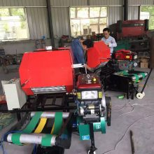 赛德顺玉米秸秆打捆包膜机,牧草粉碎打包机大型稻草青贮饲料包模机