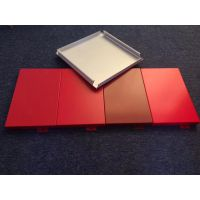 供应中石化加油站白色铝单板,罩棚红色铝单板定制
