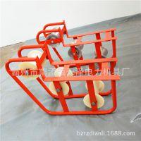 管口滑轮电缆放线滑车转角滑轮三联井口滑轮地缆放线滑轮滑车