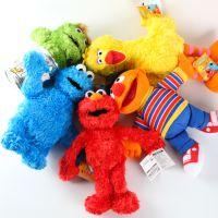 经典卡通Sesame Street芝麻街玩偶Elmo艾摩公仔毛绒布艺娃娃玩具
